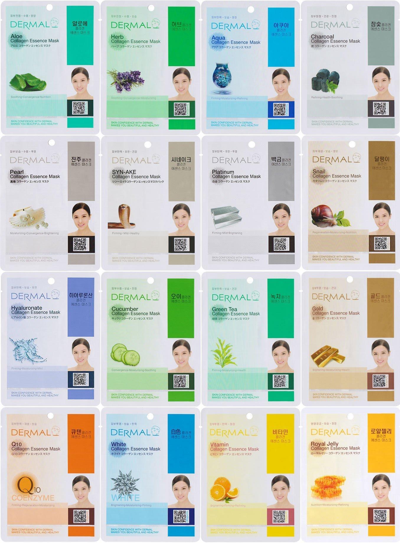 16-ct Dermal Korea Collagen Essence Face Masks $11 @ Amazon
