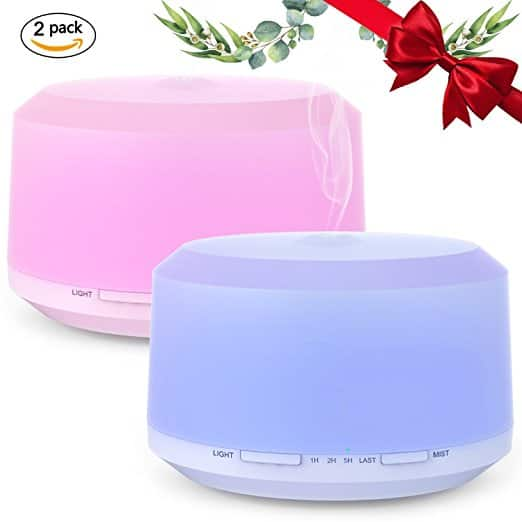 2 Pack 450ML Aromatherapy Diffusers for Essential Oils - $17.99 at Amazon
