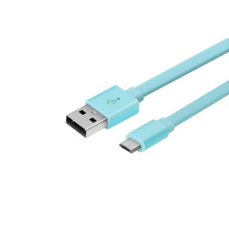 Blackweb Sync and Charge Cable with Micro-USB connector, 6 Feet, Teal $1.50 YMMV