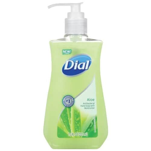 Dial Antibacterial Liquid Hand Soap, Aloe, 7.5 Fluid Ounces (Pack of 12)  for $10.68