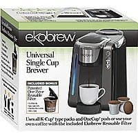Amazon Deal: $79.99 Universal K-cup Brewer with Refillable cup Free Usually 99.99-129.99 shipped from at Amazon.com