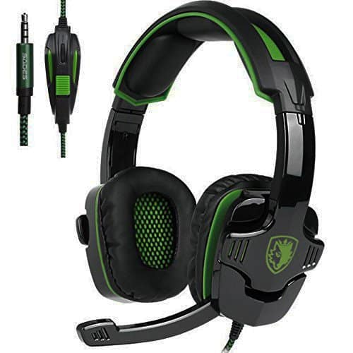 3.5mm Stereo Gaming Headset with Microphone,Noise Isolating Volume Control for Pc/Mac/Ps4/Phone/Tablet/New Xbox One(16.78$+Free Shipping)