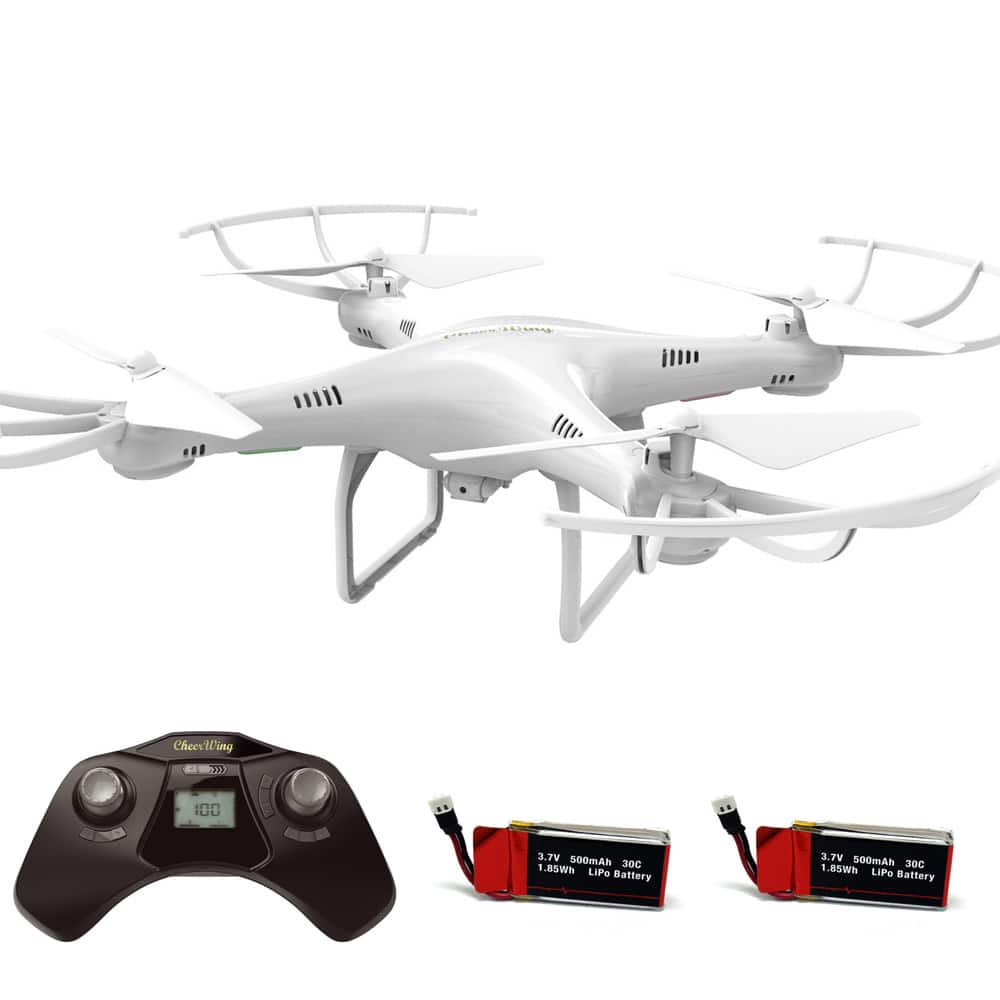 Cheerwing CW4 RC Drone with 720P HD Camera 2.4Ghz RC Quadcopter with Altitude Hold Mode and One Key Take Off Landing Plus Bonus Battery $29.99 + Free Shipping
