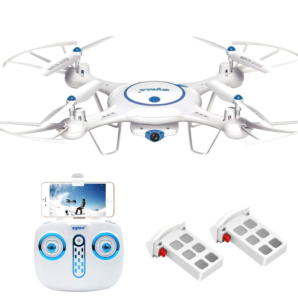 Syma X5UW 2.4Ghz Wifi FPV RC Drone Quadcopter with 720P HD Camera & Altitude Hold Function Bonus Battery Included - $49.54 + Free Shipping