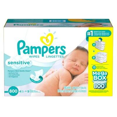 Sams Club - Pampers Sensitive Baby Wipes - 4x800 Ct  (total 3200 ct) for less $35 with Sams and Amex offer