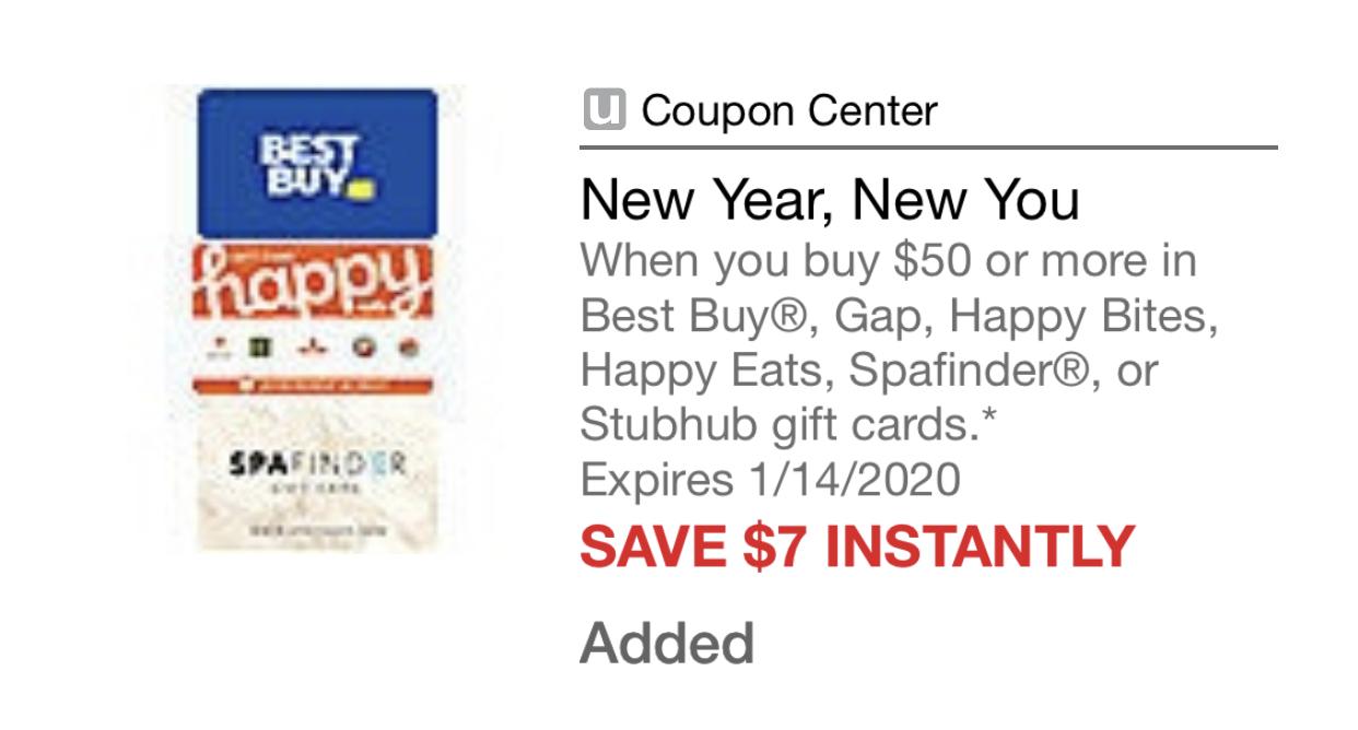 Safeway/Albertsons/Vons Just4U App: Best Buy, Gap or Stubhub $50 Gift Card Save $7 Instantly Exp 1/14/2020 $43