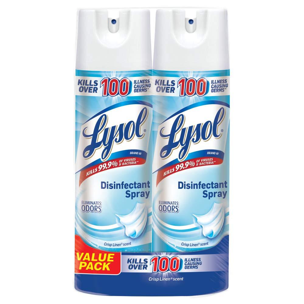 Lysol Disinfectant Spray, Crisp Linen, 38oz (2X19oz) walmart.com $10.77 free ship $35+