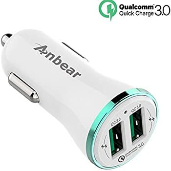 Anbear Quick Charge QC 3.0 Dual Car Charger 36W $6.99