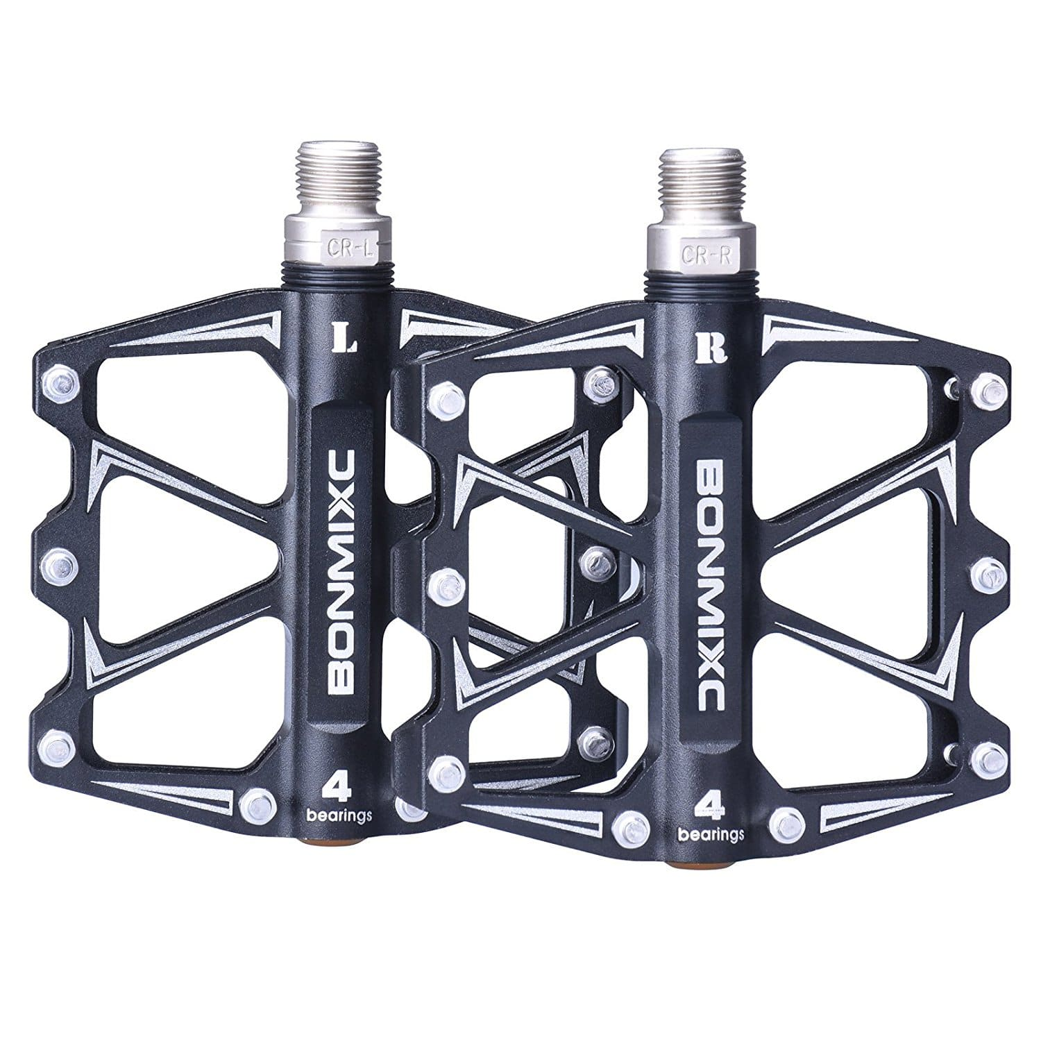 """Bonmixc Mountain Bike Pedals 9/16"""" Cycling Four Pcs Sealed Bearing Bicycle Pedals for $20.99"""