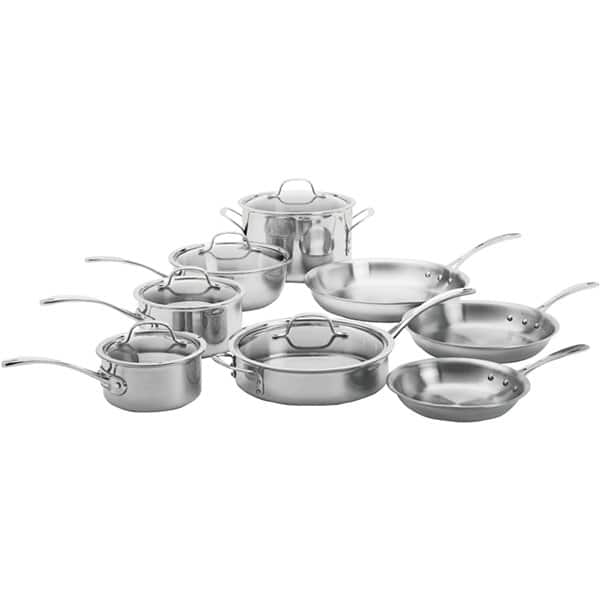 calphalon tri ply stainless steel 13 pc cookware set for $206.94 before tax @JCPenney