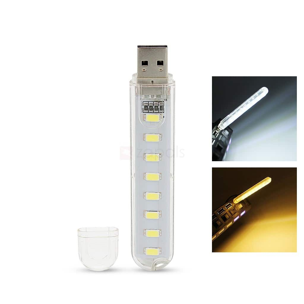 8-LED USB-Powered Light 60¢, 8-in-1 Phone Repair Tool Kit 50¢ @ Zapals