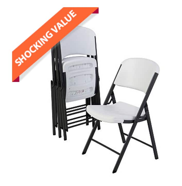Commercial Grade Contoured Folding Chairs (4-pack): $99.98 Shipped