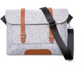 Felt & Vegan Leather Premium Slim Laptop Bag: $17 + Free Shipping {Flagship}