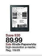 Target Weekly Ad: Kindle Paperwhite for $89.99