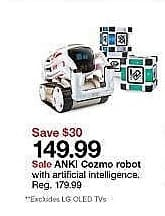 Target Weekly Ad: ANKI Cozmo Robot for $149.99