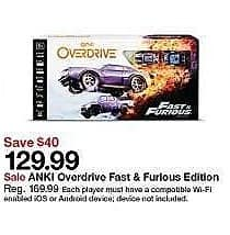Target Weekly Ad: ANKI Overdrive Fast & Furious Edition for $129.99