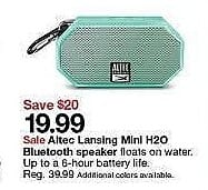 Target Weekly Ad: Altec Lansing Mini H2O Bluetooth Speaker for $19.99