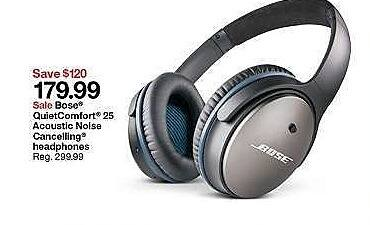 Target Weekly Ad: Bose QuietComfort 25 Acoustic Noise Canceling Headphones for $179.99
