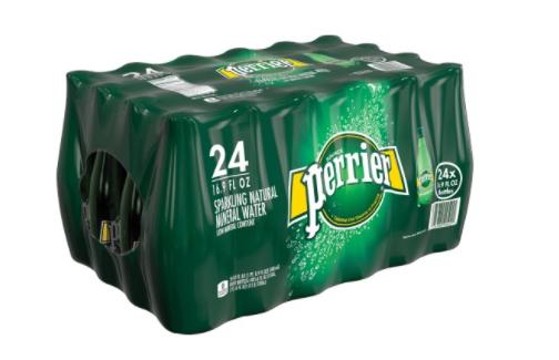 Perrier Sparkling Natural Mineral Water, 16.9 Fl Oz (24pk): $15.75 (Jet.com)