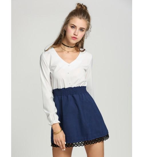 Women's Blue Long Sleeve Mini Dress: $10 + FS