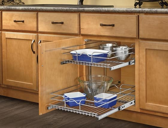 Rev-A-Shelf Kitchen Pullout Cabinet Organizers (various styles) from $36 Up + Free Shipping