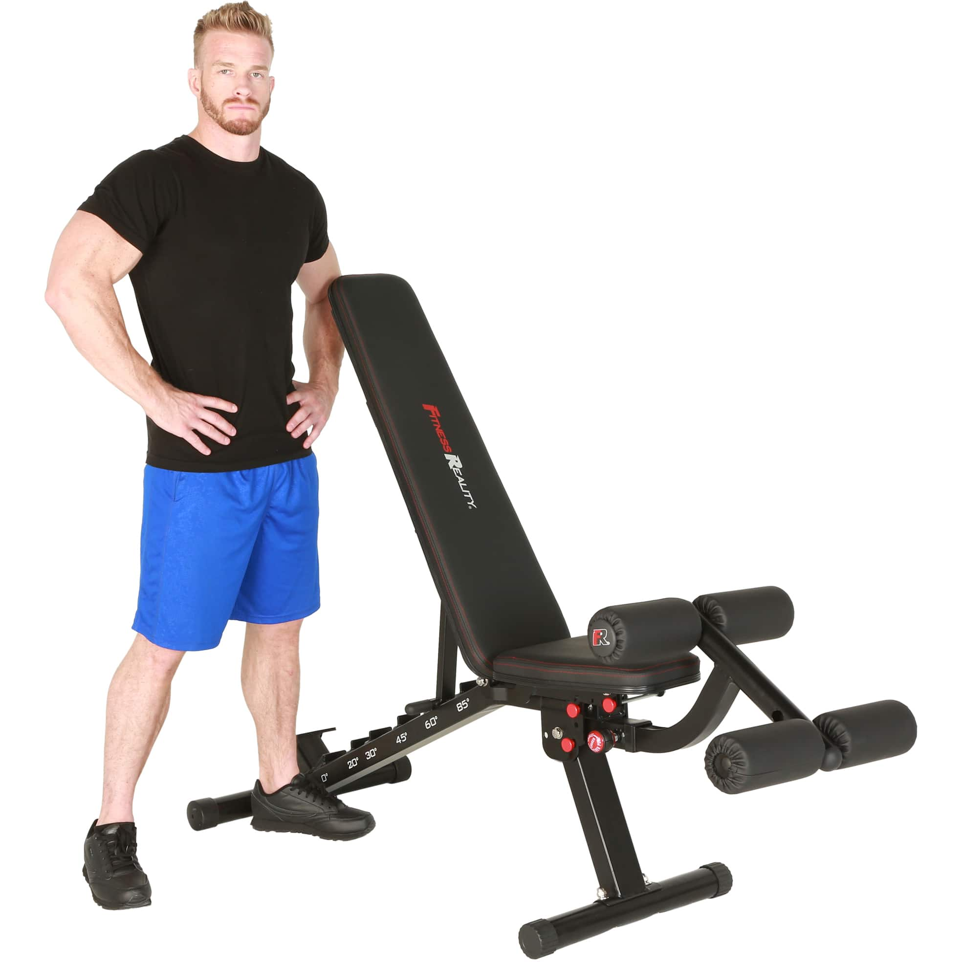 FITNESS REALITY 2000 Super Max XL Adjustable Utility FID Weight Bench with Detachable Leg Lock-Down: $159 + F/S with Slickdeals Rebate