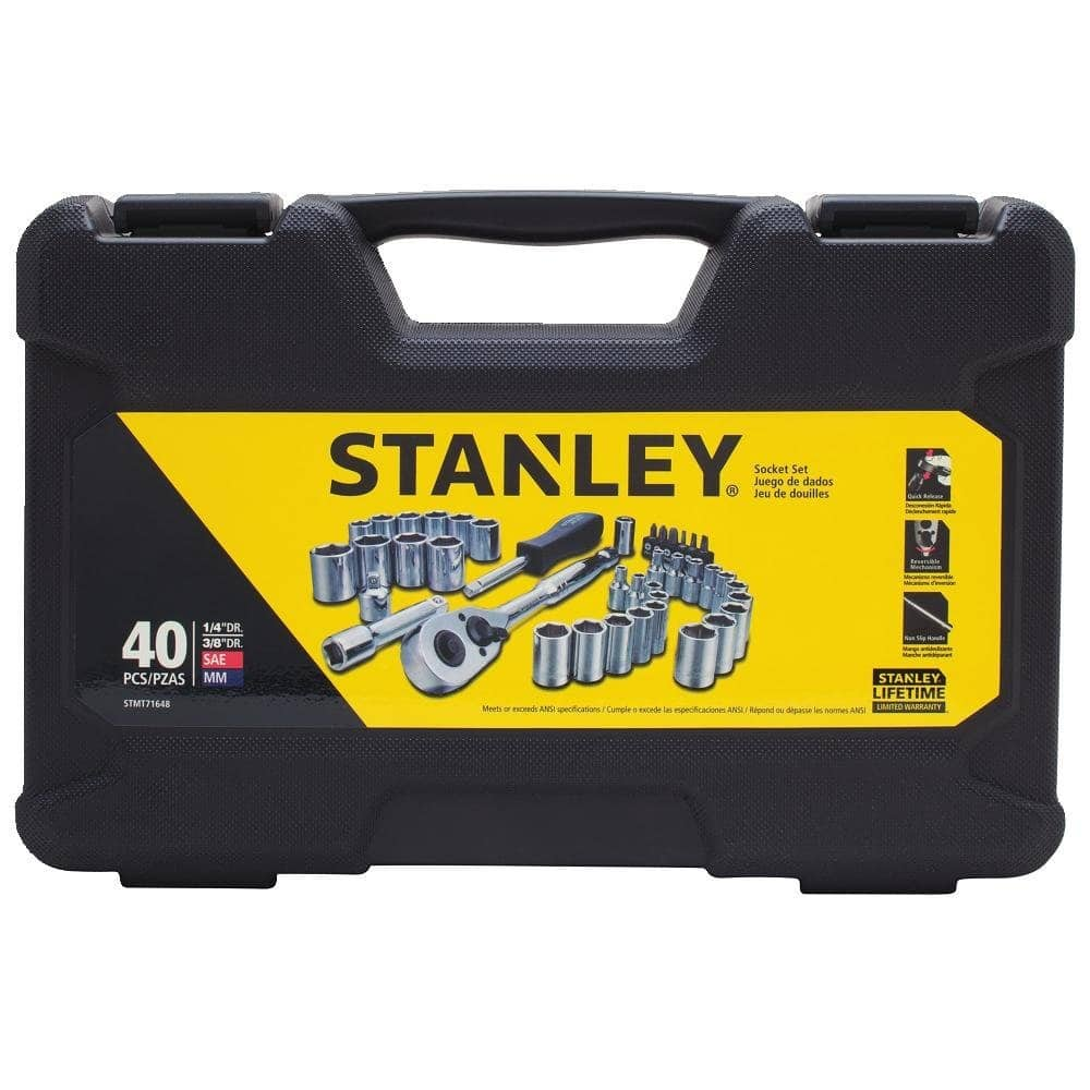 Stanley STMT71648 40-Piece Socket Set $17.48