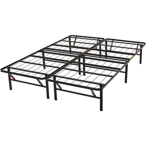 AmazonBasics Platform Bed Frame, Black, Queen $64