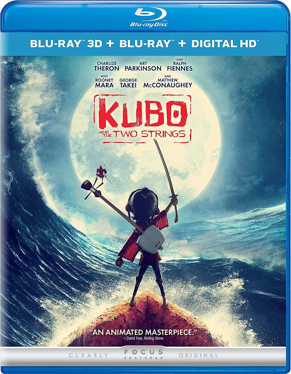 Kubo and the Two Strings 3D Blu-Ray + Blu-Ray + Digital $9.79