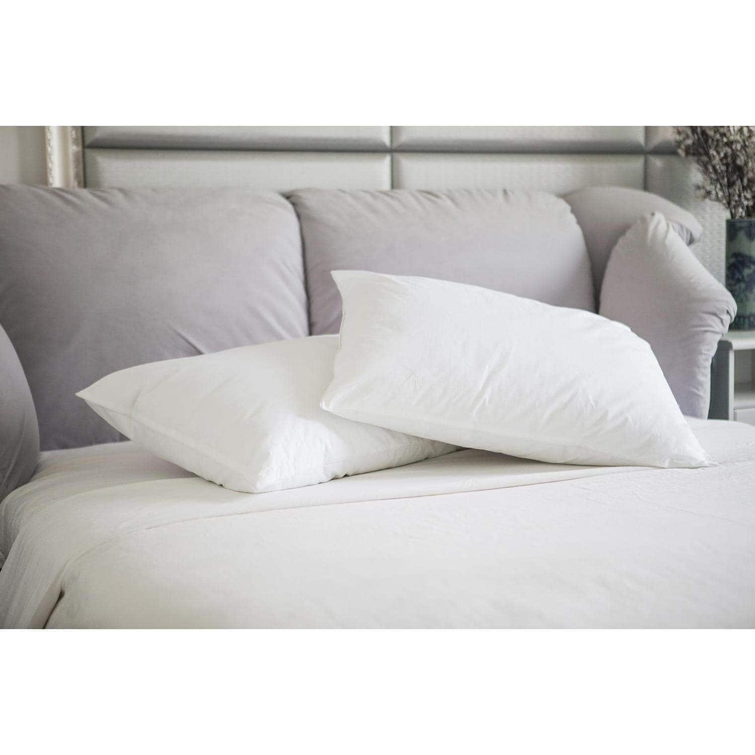 St. James Home Natural Memory White Duck Pillow, White, 2 Pack $10 online at Walmart $9.88