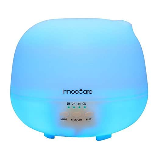 InnooCare Ultrasonic 500ML Milliliter Essential Oil Diffuser with 4 Timer Setting for $11.52 @Amazon