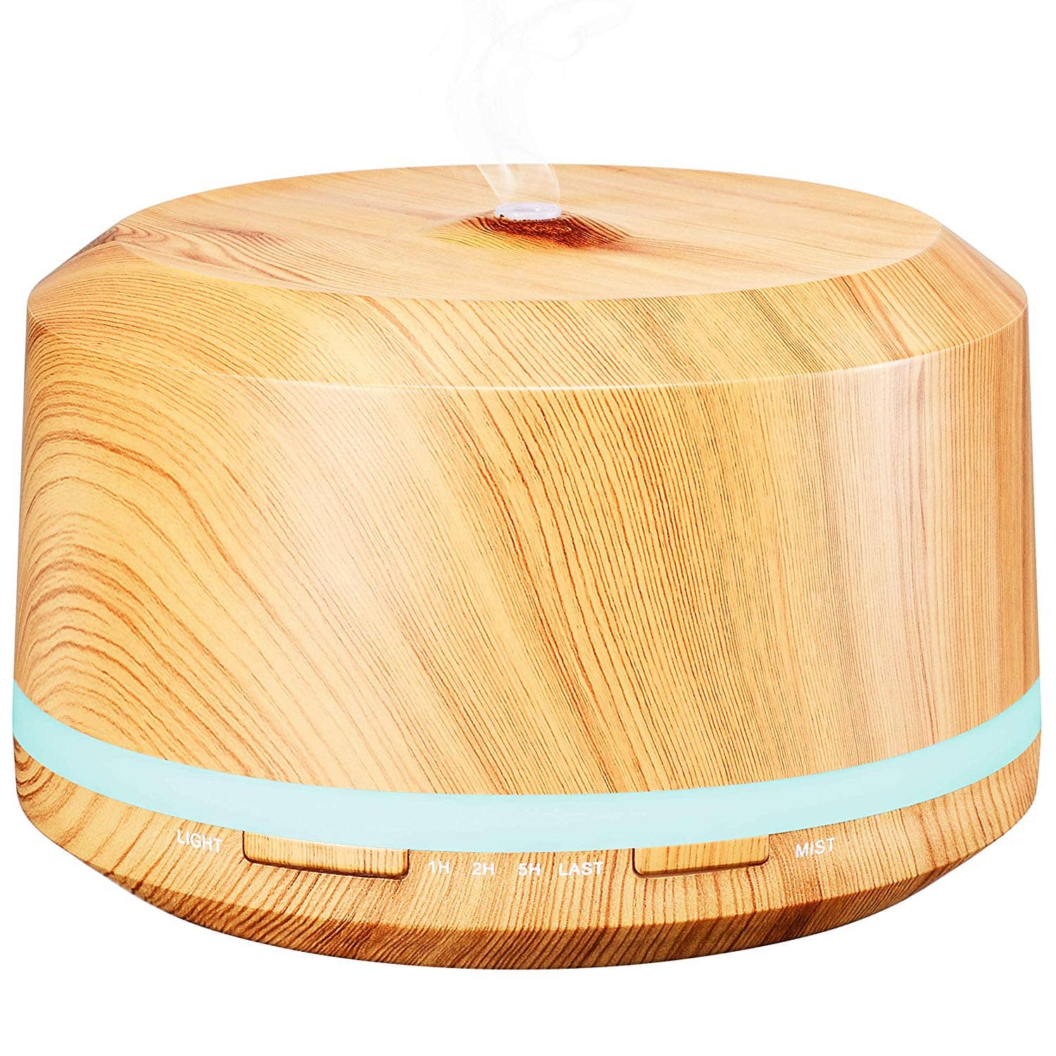 450ml Aromatherapy Essential Oil Diffuser Ultrasonic Cool Mist Diffusers with 8 Color Changing Light $13.79 @Amazon