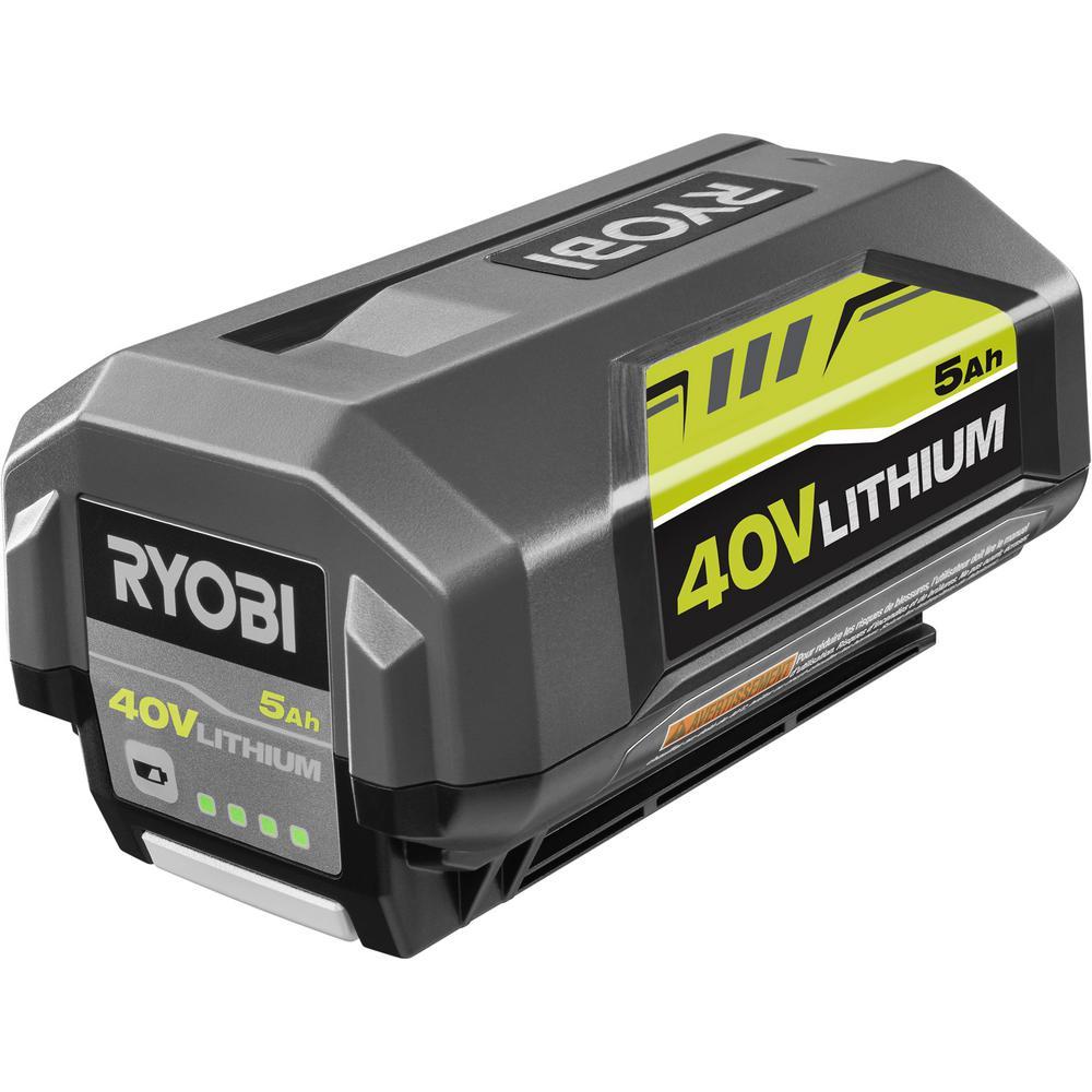 Ryobi 40-Volt Lithium-Ion 5 Ah High Capacity Battery $109.99