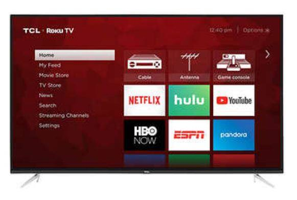 TCL 55 inch 55S423 4K UHD LED LCD TV for $285