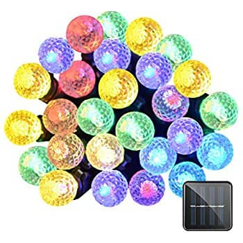 Lalapao 50 LED Solar Powered Outdoor String Lights (Multi Color) for $3.19 @Amazon