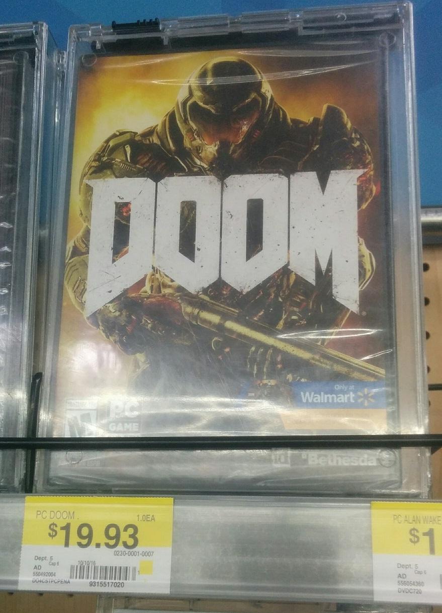 DOOM PC, $19.93 Walmart in store. YMMV B&M