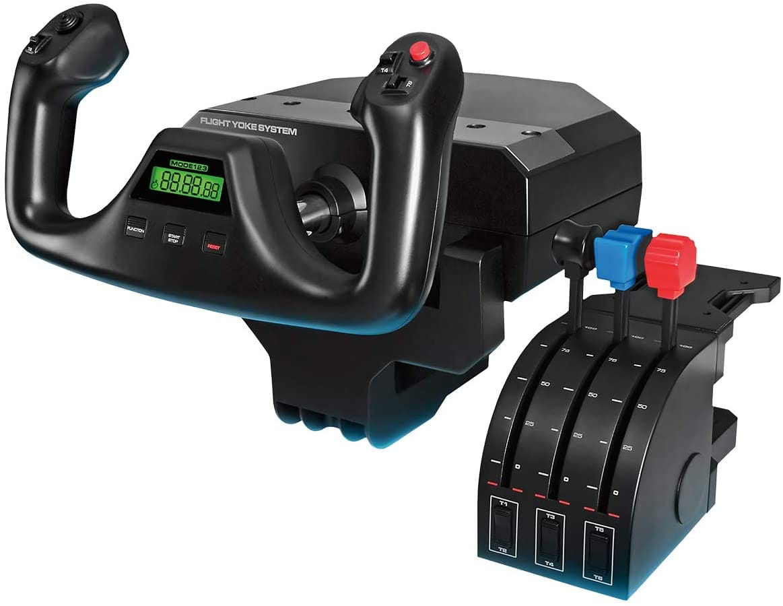 Logitech G Pro Saitek Flight Yoke System Gaming Controller (Black) + $20 Newegg Promotional Gift Card $169 + Free Shipping via Newegg