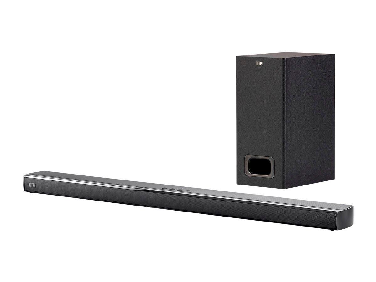 Monoprice SB-200SW Premium Slim Soundbar w/ Wireless Subwoofer $84.99 AC + Free Shipping