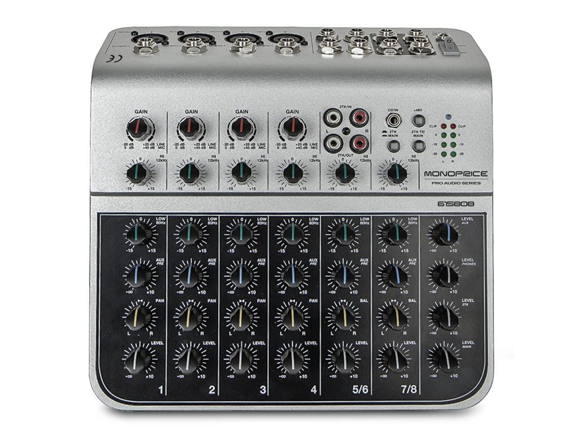 Monoprice Pro Audio Series 8-Channel Audio Mixer w/ USB $44.09 + Free Shipping via Monoprice