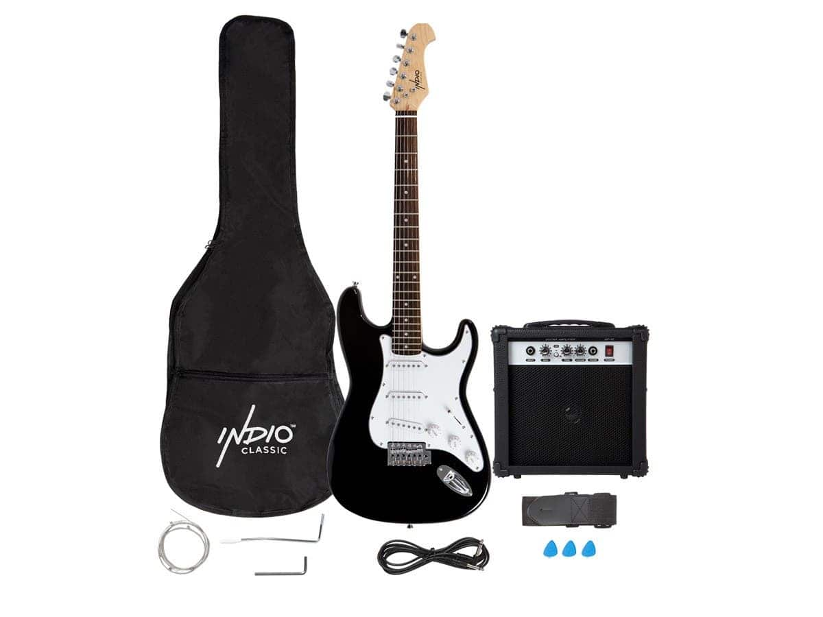 Monoprice Indio Cali Electric Guitar Package w/ 10W Amp/Strap/Extra Strings $90 + Free Shipping via Monoprice