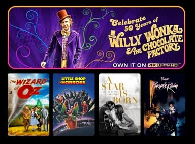 FanFlix Warner Bros. Digital Films: 4 for $19.99: Willy Wonka and the Chocolate Factory, The Wizard of Oz, A Star is Born, V for Vendetta & Many More