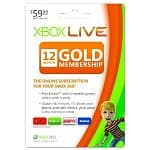 Xbox 360 Live 12 Month Gold Subscription Card