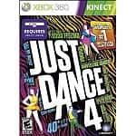 Just Dance 4 (Xbox 360 Kinect) + $10 Microsoft Store Coupon + 1600 Xbox Live Points
