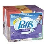 6-Pack of 124-count Puffs Ultra Soft and Strong Facial Tissues