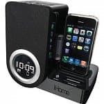 iHome Alarm Clock Speaker Docks: iC50BY Android or iP41 Rotating Alarm (Refurb)