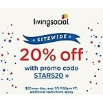 LivingSocial July 4th Savings: Additional 20% Off Sitewide (Valid thru 7/5)