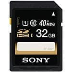 32GB Sony Class 10 UHS-1 SDHC Memory Card $9.95 + Free Shipping