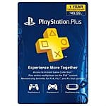 1-Year Sony PlayStation Plus Membership  $40 + Free Shipping