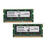 Laptop Memory: 16GB (2x8GB) Crucial DDR3L 1600 (PC3L 12800) $76.99, 8GB (1x8GB) Crucial DDR3L 1600 $38.99 & More + Free Shipping