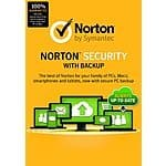 Norton Security w/ Backup for 10 Devices (PC/Mobile Download)  $28